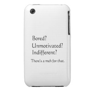 Meh for That - App for that Parody Case-Mate iPhone 3 Cases