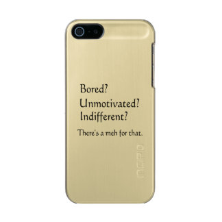 Meh for That - App for that Parody Metallic Phone Case For iPhone SE/5/5s