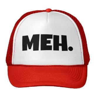Meh funny mens trucker hat