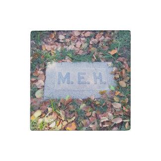 Meh Gravestone Morbid Humor Cemetery Geek Funny Stone Magnet