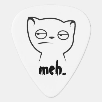"""meh."" Guitar Pick by Siberianmom at Zazzle"