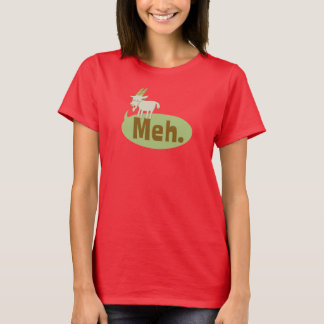 Meh (said the goat) Funny Wordplay T-Shirt