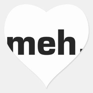 Meh. Heart Sticker