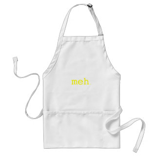 meh. Yellow Green Pink Adult Apron