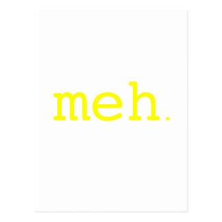 meh. Yellow Green Pink Postcard