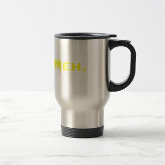Meh. Yellow Green Pink Travel Mug