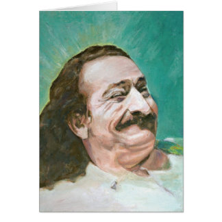 MEHER BABA, JOYOUS--CARD (blank message) Greeting Card