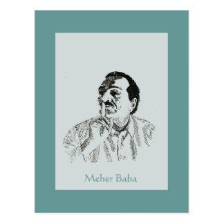 Meher Baba Silence Portrait Postcard