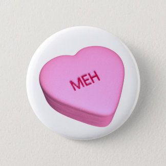MehHeart Pinback Button