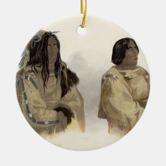 Mehkskeme-Sukahs, Blackfoot Chief and Tatsicki-Sto Ceramic Ornament