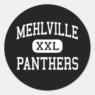 Mehlville - Panthers - High - Saint Louis Missouri Classic Round Sticker