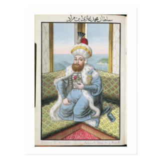 Mehmed II (1432-81) called 'Fatih', the Conqueror, Postcard