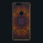 """Mehndi Burst on Genuine Hardwood Maple Wood Nexus 6P Case<br><div class=""""desc"""">Purple,  berry and orange come together in this intricate color burst mehndi mandala design on genuine hardwood maple. See dropdown menus for other hard wood and model choices.</div>"""