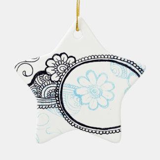 mehndi ceramic ornament