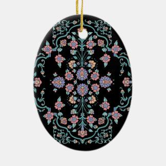 Mehndi Cross Ceramic Ornament