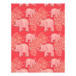 mehndi elephants scrapbook paper 8.5 x 11 letterhead