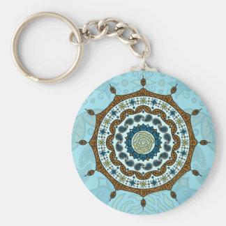 Mehndi Fantasy Copper Keychain