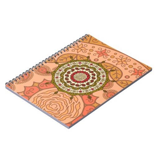 Mehndi Fantasy Gold Notebook
