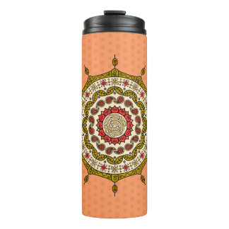 Mehndi Fantasy Gold Thermal Tumbler