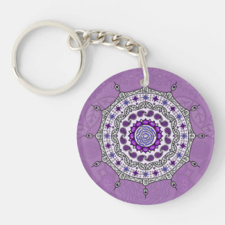 Mehndi Fantasy Silver Acrylic Keychain