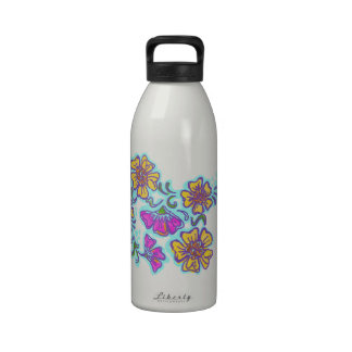 Mehndi Flower Water Bottle, Choose your own Color!