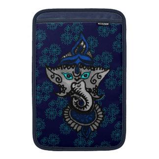Mehndi Ganesha (azul) Funda MacBook