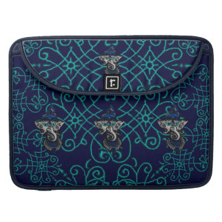 Mehndi Ganesha azul Funda Para Macbooks
