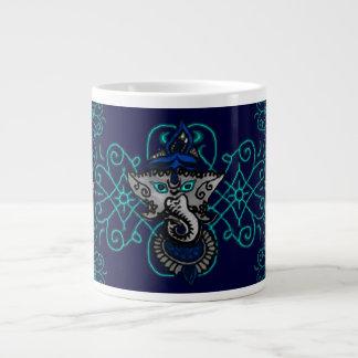 Mehndi Ganesha (Blue) Large Coffee Mug