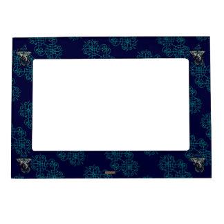 Mehndi Ganesha (Blue) Magnetic Picture Frames
