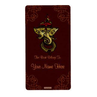 Mehndi Ganesha (Bookplate) Etiquetas De Envío