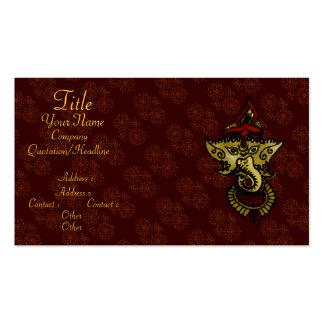 Mehndi Ganesha Business Card