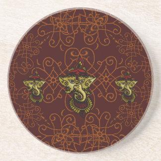 Mehndi Ganesha Coaster