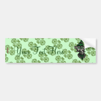 Mehndi Ganesha (Green) Bumper Sticker