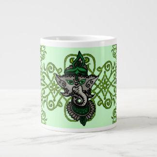 Mehndi Ganesha (Green) Giant Coffee Mug