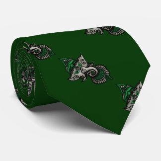Mehndi Ganesha (Green) Neck Tie