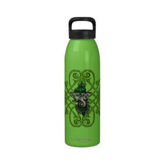 Mehndi Ganesha (Green) Water Bottle