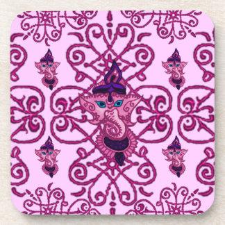 Mehndi Ganesha (Pink) Coaster