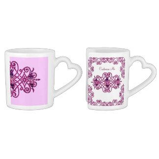 Mehndi Ganesha (Pink) Couples Coffee Mug