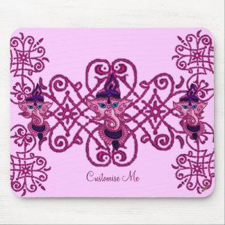 Mehndi Ganesha (Pink) Mouse Pad