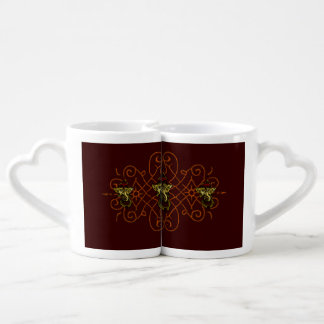 Mehndi Ganesha (Red) Couples Coffee Mug