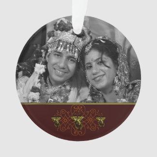 Mehndi Ganesha (Red) Ornament