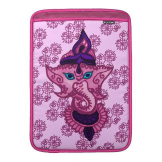 Mehndi Ganesha (rosa) Fundas MacBook