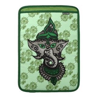 Mehndi Ganesha (verde) Fundas Para Macbook Air
