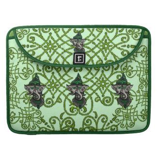 Mehndi Ganesha verde Funda Para Macbook Pro