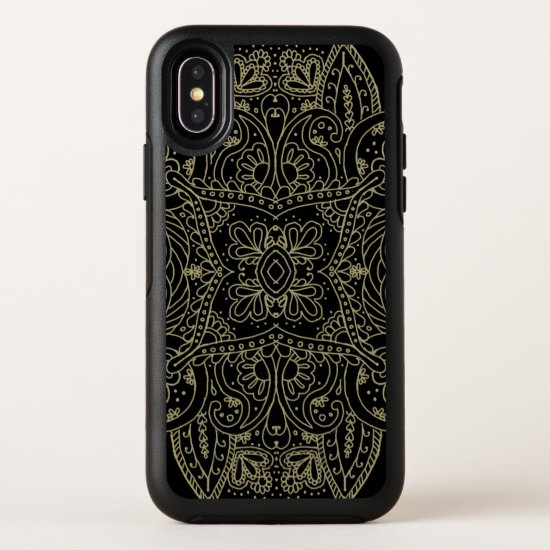 Mehndi Gold OtterBox Symmetry iPhone X Case
