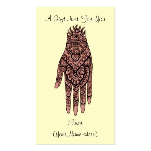 Henna Business Card Templates Page2 Bizcardstudio