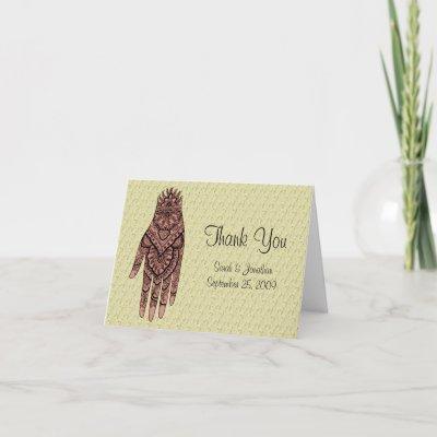 wedding thank you card designs. Wedding Thank You Card by
