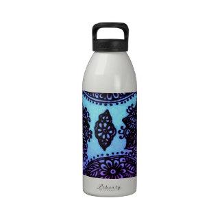 Mehndi Henna Blue Mix Water Bottle