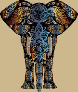 3f55da7b Henna Elephants T-Shirts - T-Shirt Design & Printing | Zazzle