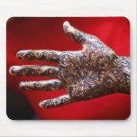 Mehndi henna hand mouse pads